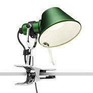 Artemide - Tolomeo Micro Pinza LED Klemmleuchte - grün/lackiert/BxH 16x20cm/3000K/400lm