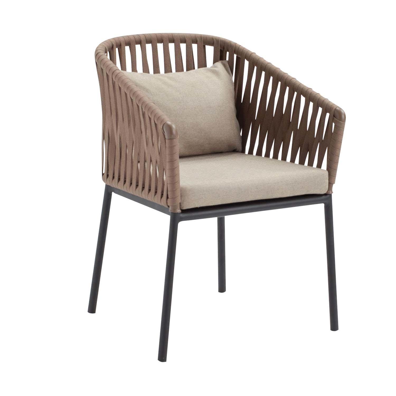 Bitta - Chaise avec accoudoirs de jardin