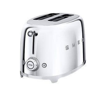 Smeg - SMEG 2-Scheiben Toaster TSF01 - chrom/lackiert/6 Röstgradstufen/31x19,5x19,8cm