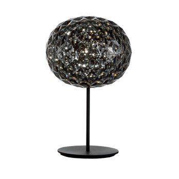 Kartell - Planet LED Tischleuchte mit Fuß Ø33cm - grau/H 53cm/ Ø 33cm/Standfuß schwarz
