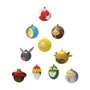 Alessi - Palle Presepe - Set de boules de arbre de Noël