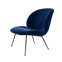 Gubi - Beetle Lounge Sessel Samt Gestell Schwarz