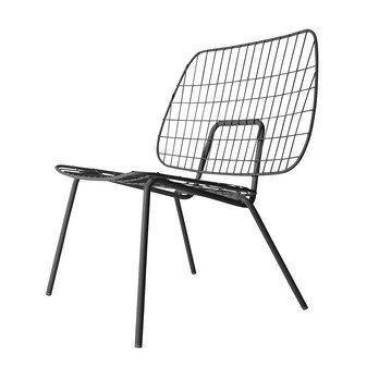 Menu - WM String Lounge Chair Sessel - schwarz/für Innen- und Außenbereich geeignet