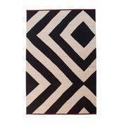 - Mélange Zoom Kilim Woll-Teppich - schwarz-weiß- rot/300x400cm