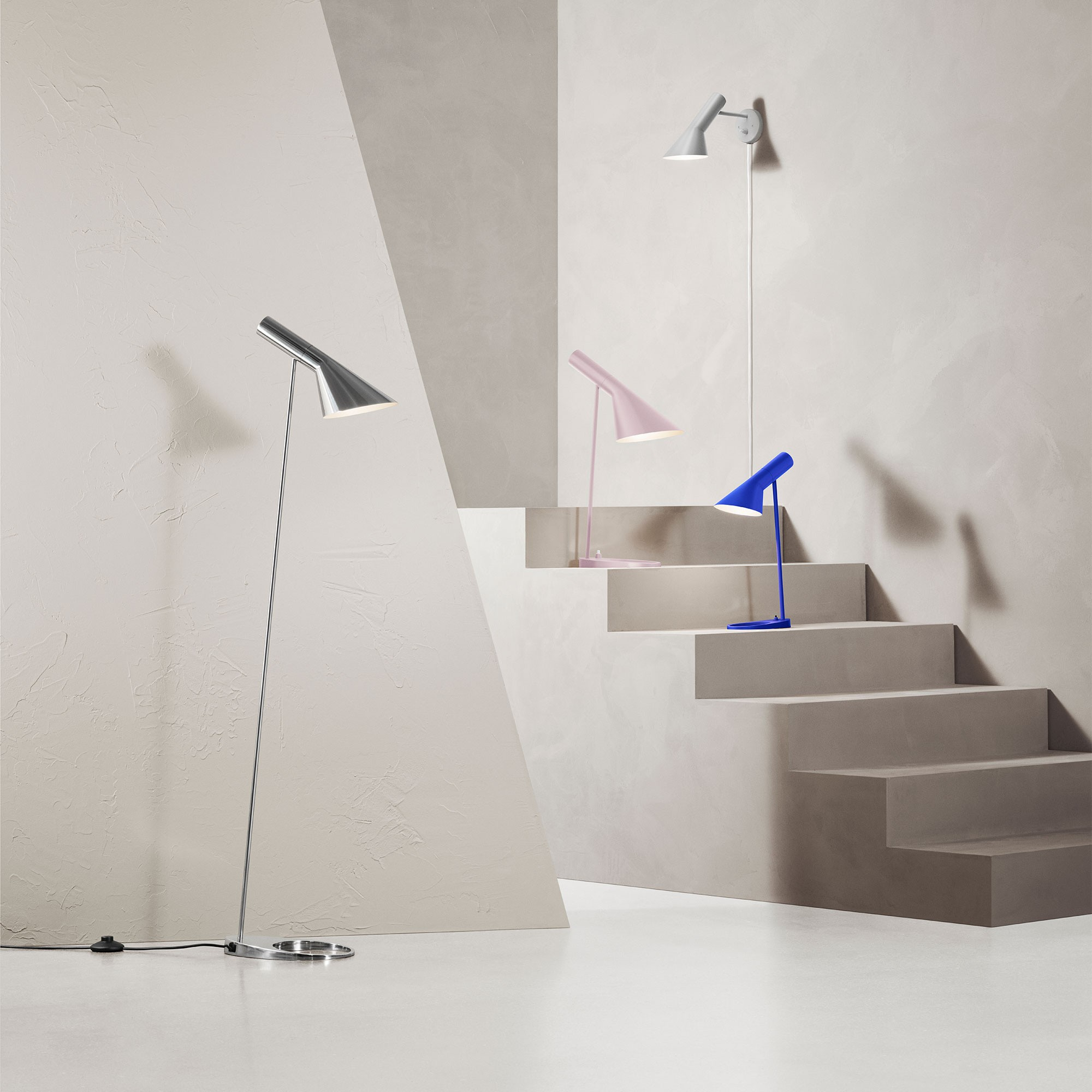 Louis Poulsen Aj Floor Lamp Stainless Steel Ambientedirect