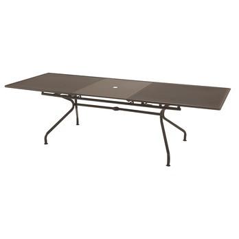 emu - Athena Gartentisch ausziehbar 230x100cm - indisch braun/pulverbeschichtet/LxBxH 230+70x100x75cm