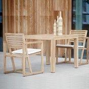 Jan Kurtz - Timber Gartenset  - teakholz/2 Armlehnstühle/1 Tisch 90x75cm
