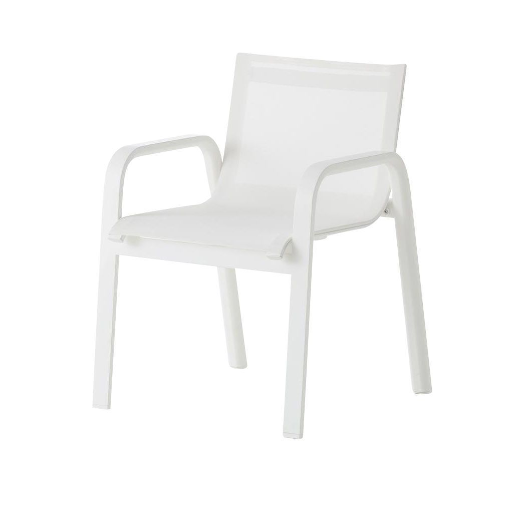 Stack silla de jard n con reposabrazos a85cm gandia - Sillas con reposabrazos ...