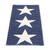 pappelina - Viggo Star Rug 70x150 cm - blue/vanilla