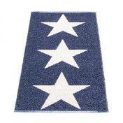 pappelina - Viggo Star Teppich 70x150cm - blau/vanille