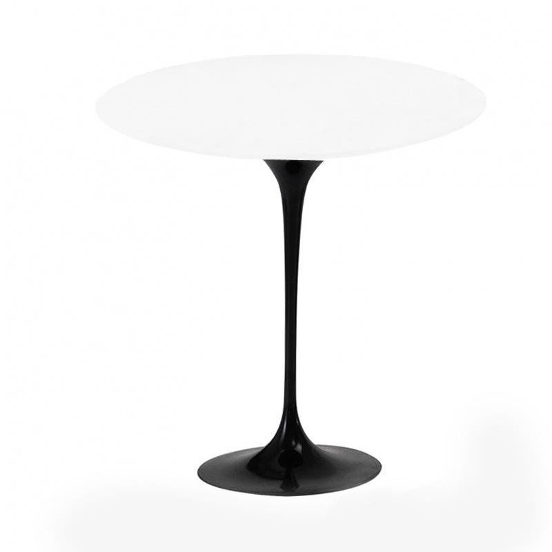 knoll international saarinen side table 51cm outdoor whiteframe black