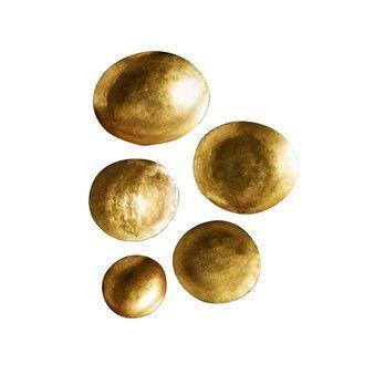 Tom Dixon - Form Bowl Schalenset L - gold/Ø 27cm/Set von 5 Schalen/handgemacht