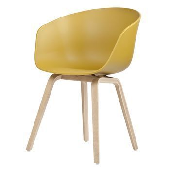 HAY - About a Chair Armlehnstuhl Colour - senfgelb/Gestell Eiche geseift