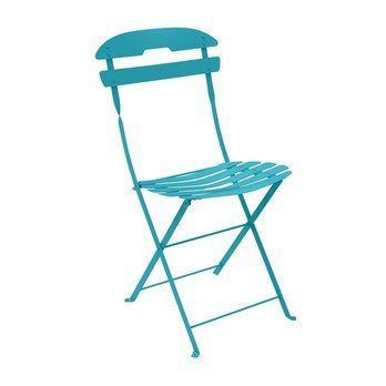 Fermob - La Mome Gartenstuhl / Klappstuhl - türkis/Sitzfläche aus Federstahl/hohe Elastizitätsgrenze