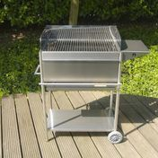 Radius - Radius Stainless Steel Barbecue Coal 2 - stainless steel/incl. side shelf & front panel