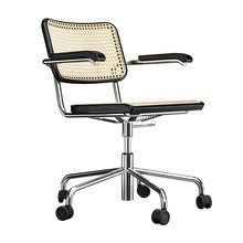 Thonet - S 64 VDR Pure Materials Swivel Chair with Wickerwork