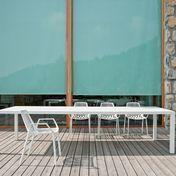 Weishäupl - New Easy Gartentisch 300x110cm - weiß/Aluminium