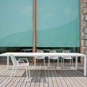 Weishäupl - New Easy Gartentisch 300x100cm - weiß/Aluminium