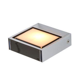 Serien - SML Wall Chrom Ceiling Lamp - chrome/glass cover opal/Size 1/9x9cm