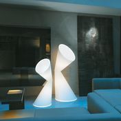 Kundalini - La La Lamp Floor Lamp - white/textile/with dimmer/134cm
