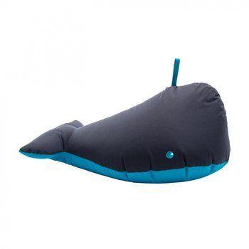 Sitting Bull - Happy Zoo Ben Whale Bean Bag 190011 - dark blue/100% polyester coated/LxWxH 92x47x70cm