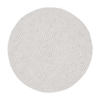 myfelt - Linéa Filzteppich Ø140cm - weiß/reine Schurwolle