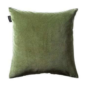 - Marcel Kissenhülle 50x50cm - dunkel-olivgrün/mit Steg und Reißverschluss/ohne Federfüllung