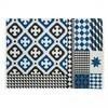 GAN - Kilim Palermo Teppich - blau/schwarz/natur/200x300cm