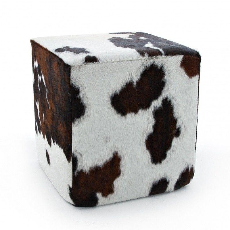 cheyenne pouf en peau de vache jan kurtz. Black Bedroom Furniture Sets. Home Design Ideas
