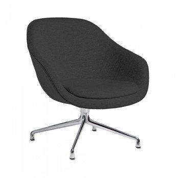 HAY - About a Lounge Chair AAL81 Sessel - schwarz/Stoff Harald Kvadrat 982/Gestell Aluminium/76x81x73cm