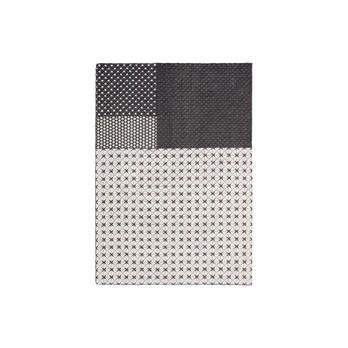 GAN - Silaï Teppich 171x258cm - grau/hellgrau/gestickt