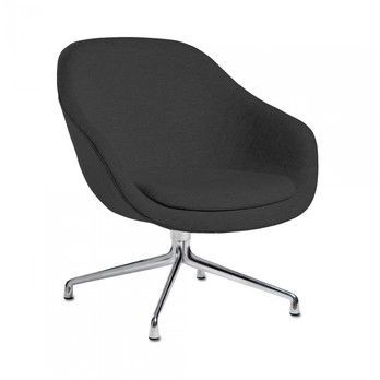 - About a Lounge Chair AAL81 Sessel - schwarz/Stoff Harald Kvadrat 982/Gestell Aluminium/76x81x73cm