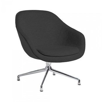 - About a Lounge Chair AAL81 Sessel - schwarz/Stoff Harald Kvadrat 982/Gestell Aluminium/76x81x73cm