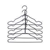 HAY - Wire Hanger Kleiderbügel Set - schwarz/5 Stück