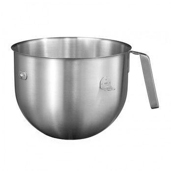 KitchenAid - KitchenAid 5KC7SBEdelstahlschüssel - edelstahl/gebürstet/6,9 l/offener Griff/für Küchenmaschine 1.3 HP