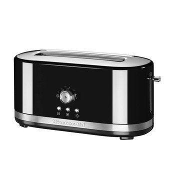 KitchenAid - KitchenAid 5KMT4116 Toaster Bedienung manuell - onyx-schwarz/glänzend/mit 2 langen Schlitzen/LxBxH 42x19.6x20.2cm/1800W/50-60Hz/220-240V