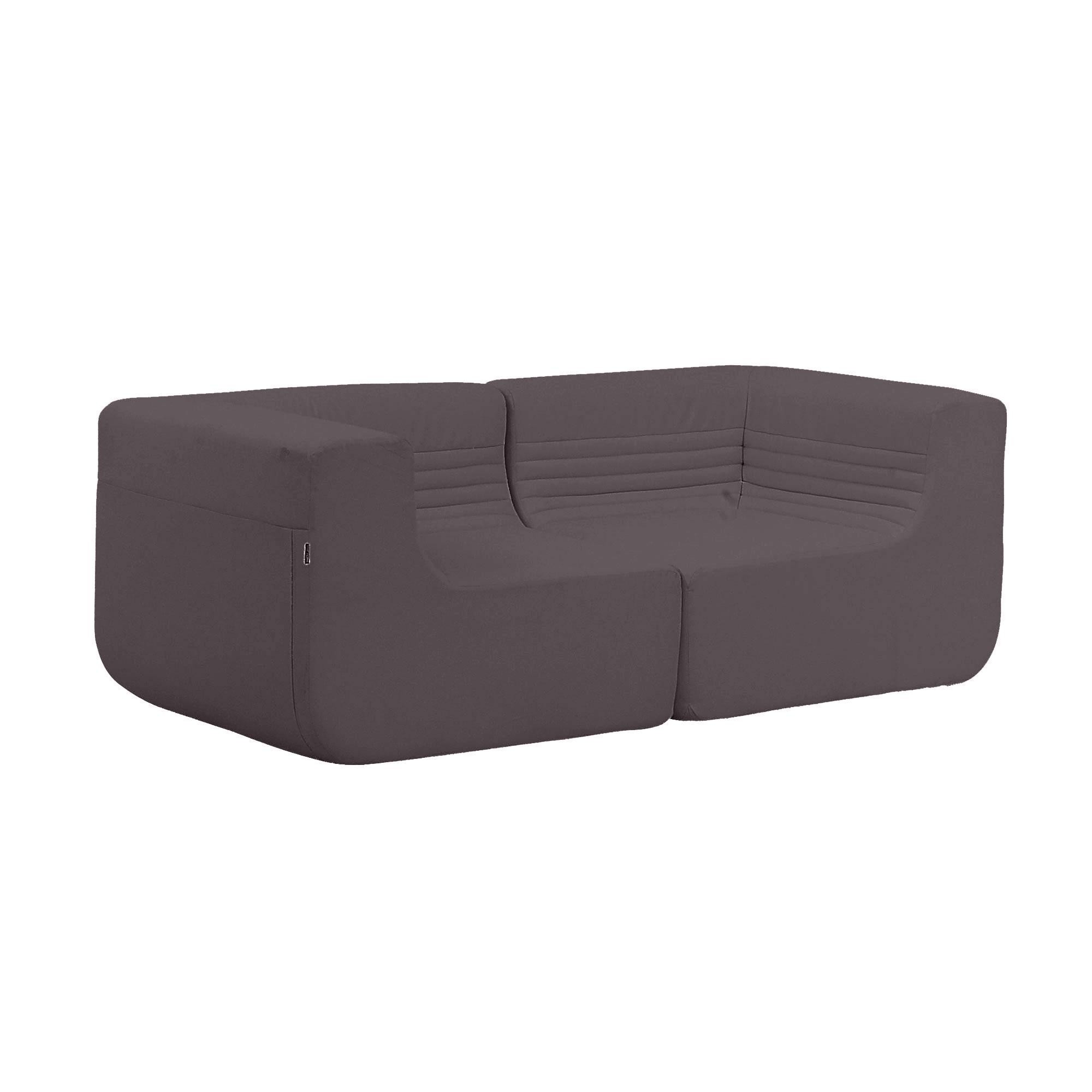 softline loft outdoor sofa braun grau stoff tempo 279 bxhxt 176x63x88cm