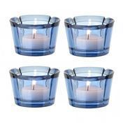 Rosendahl Design Group - Grand Cru Teelichthalter 4er-Set - marineblau