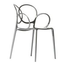 Driade - Chaise avec accoudoirs Sissi Metallic