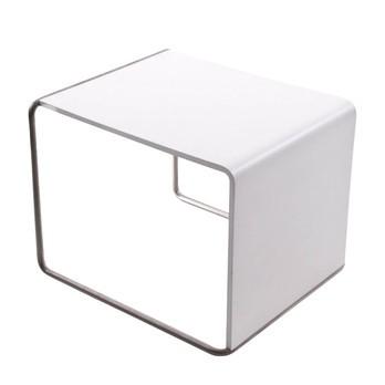 la palma - Ueno Beistelltisch/Hocker - weiß/Holz/Sitzfläche lackiert/LxBxH 41x45x35cm