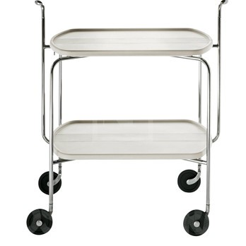 Magis - Transit Rollwagen - weiß/Gestell chrom/Griff aluminium