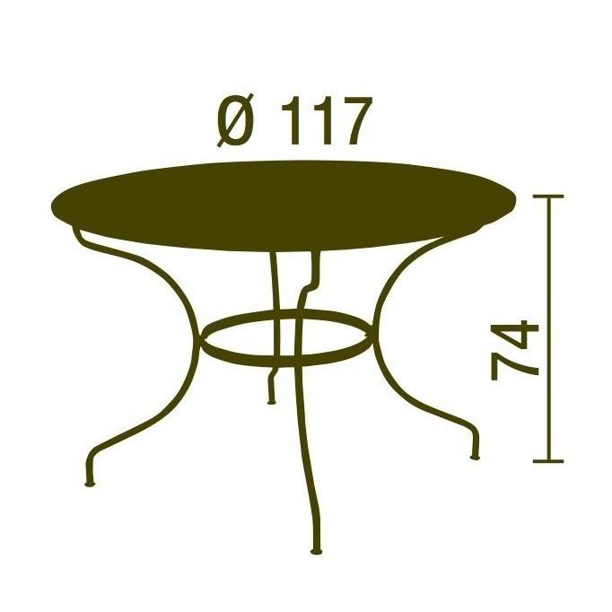 Opéra - Table de jardin Ø117cm