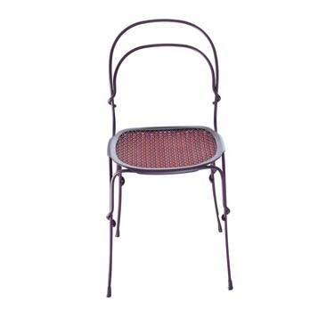 Magis - Vigna Gartenstuhl - Gestell - weinrot/lackiert/Sitz weinrot/rot