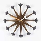 - Polygon Clock Nelson Wanduhr - nussbaum/Ø43cm