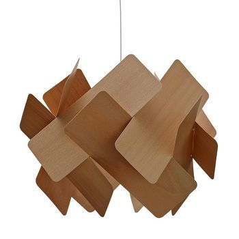 LZF Lamps - Escape Pendelleuchte - buche/matt/L40 x B40 x H30cm/ohne Leuchtmittel/Dimmer
