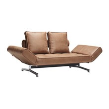 Innovation - Ghia Sofa Bed Artificial Leather Legs Chromed Steel 180x90cm