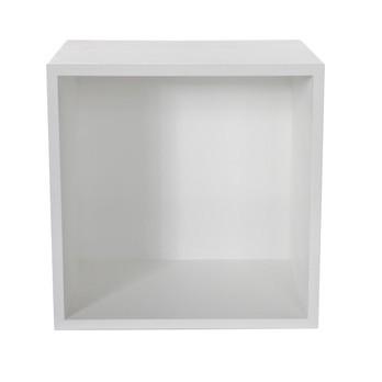 Muuto - Mini Stacked Einzelfach 2 - weiß/Rückwand weiß/Größe 2/33,2cm x 26cm x 33,2cm