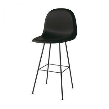Gubi - Gubi 3D Bar Chair Barhocker - mitternachtsschwarz/Sitzfläche HiRek Kunststoff/BxHxT 52x112x53,5cm/Gestell schwarz