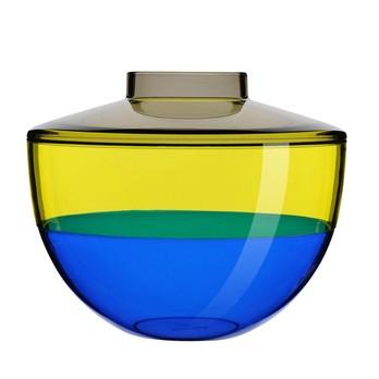 Kartell - Shibuya Vase - rauchgrau/gelb/blau