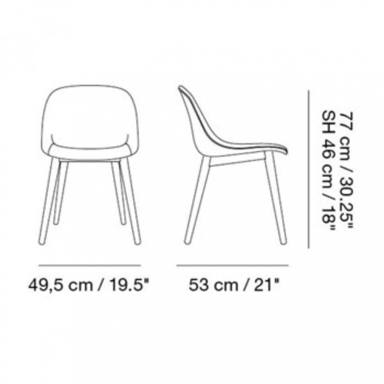 Fiber Chair Stuhl mit Holzgestell